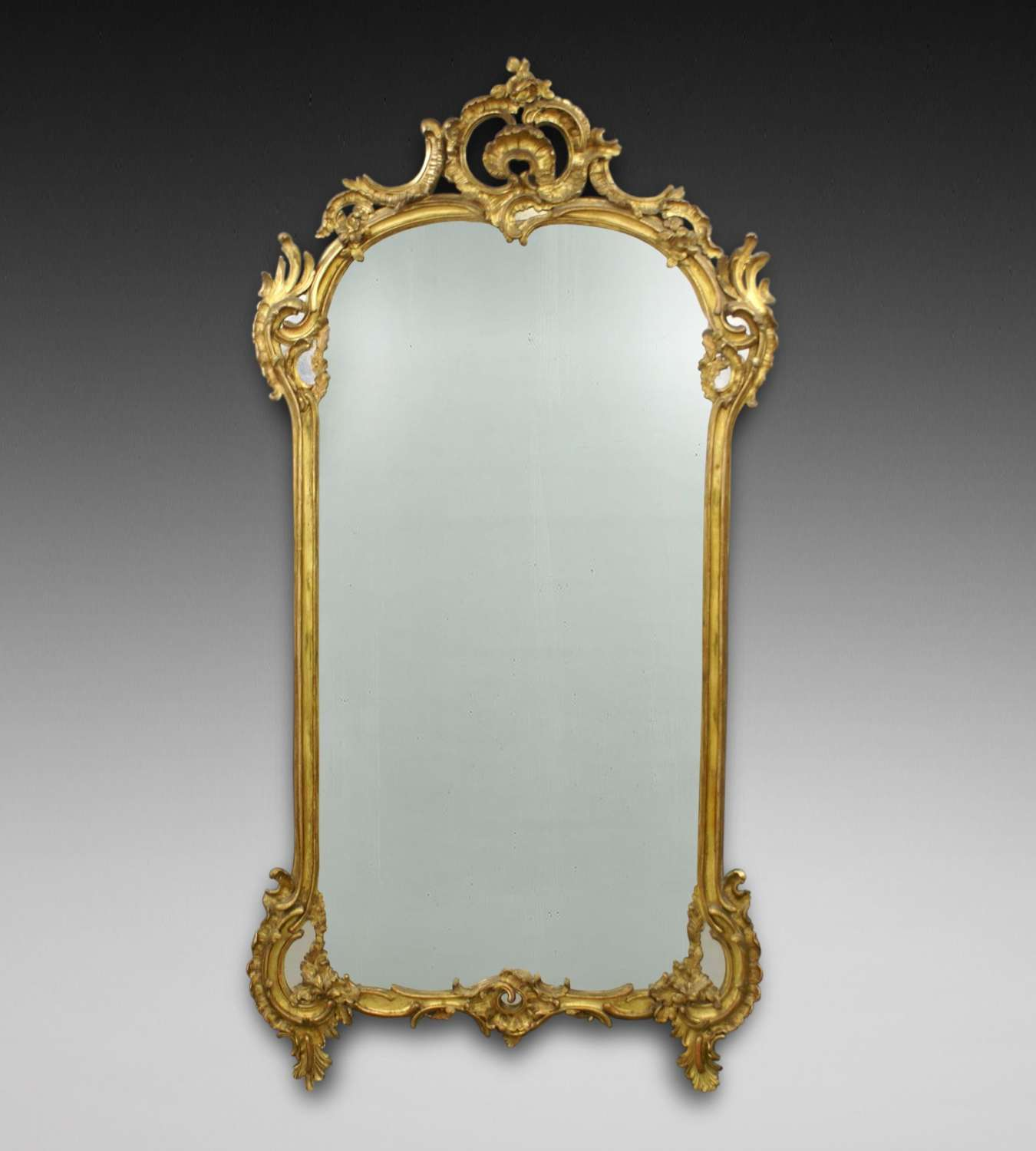 A large and impresive  carved giltwood19th Century wall mirror