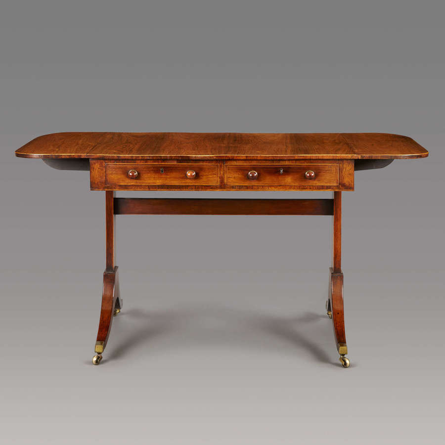 A late 18th Century rosewood end-support sofa  table