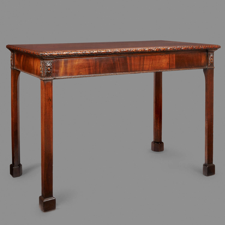 18th Century mahogany consul or serving table