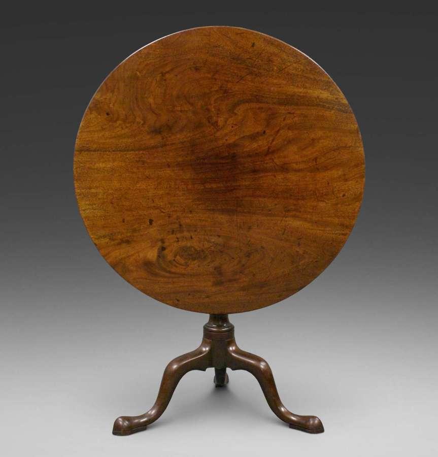 18th Century mahogany cabriole leg tripod table