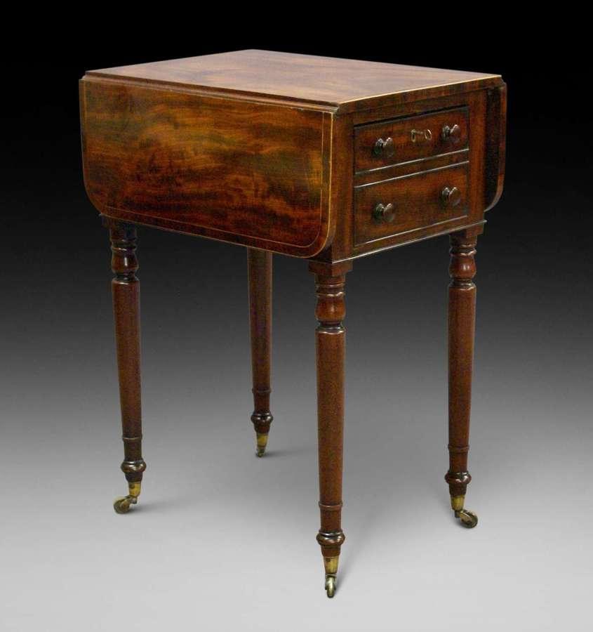 19th Century mahogany small drop-leaf Pembroke table