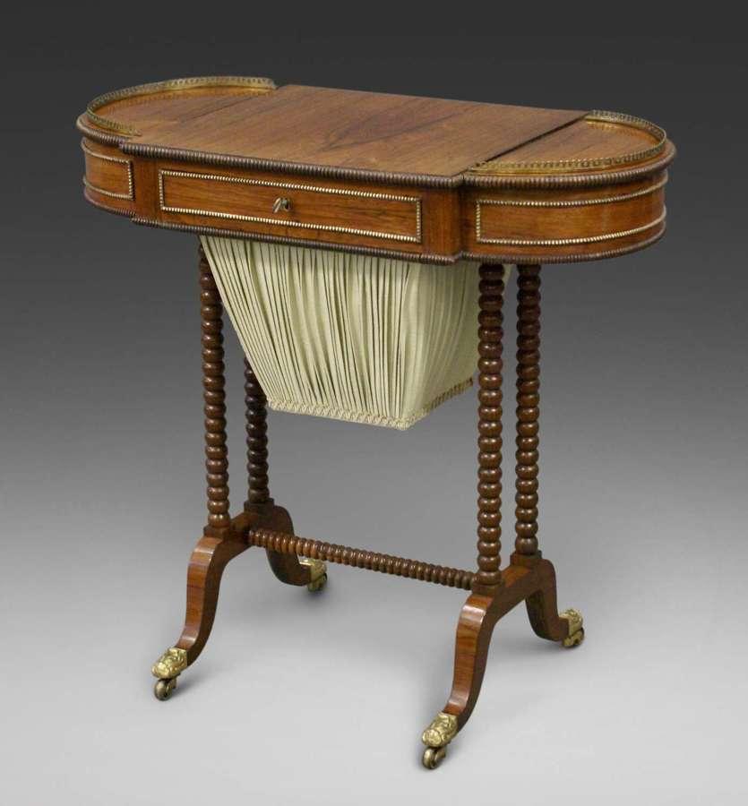 19th Century Regency rosewood work table