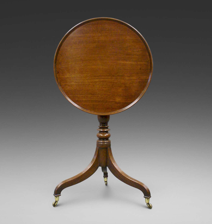 A late George III period Cuban mahogany tripod table